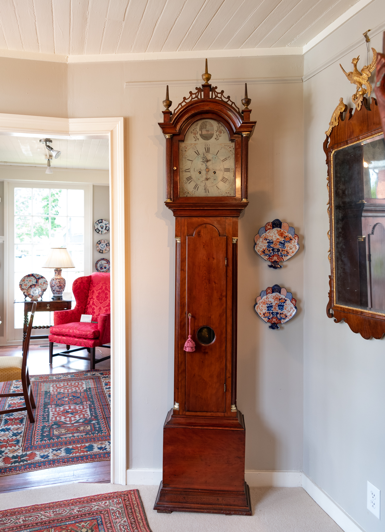 Federal Cherry Tall Case Clock