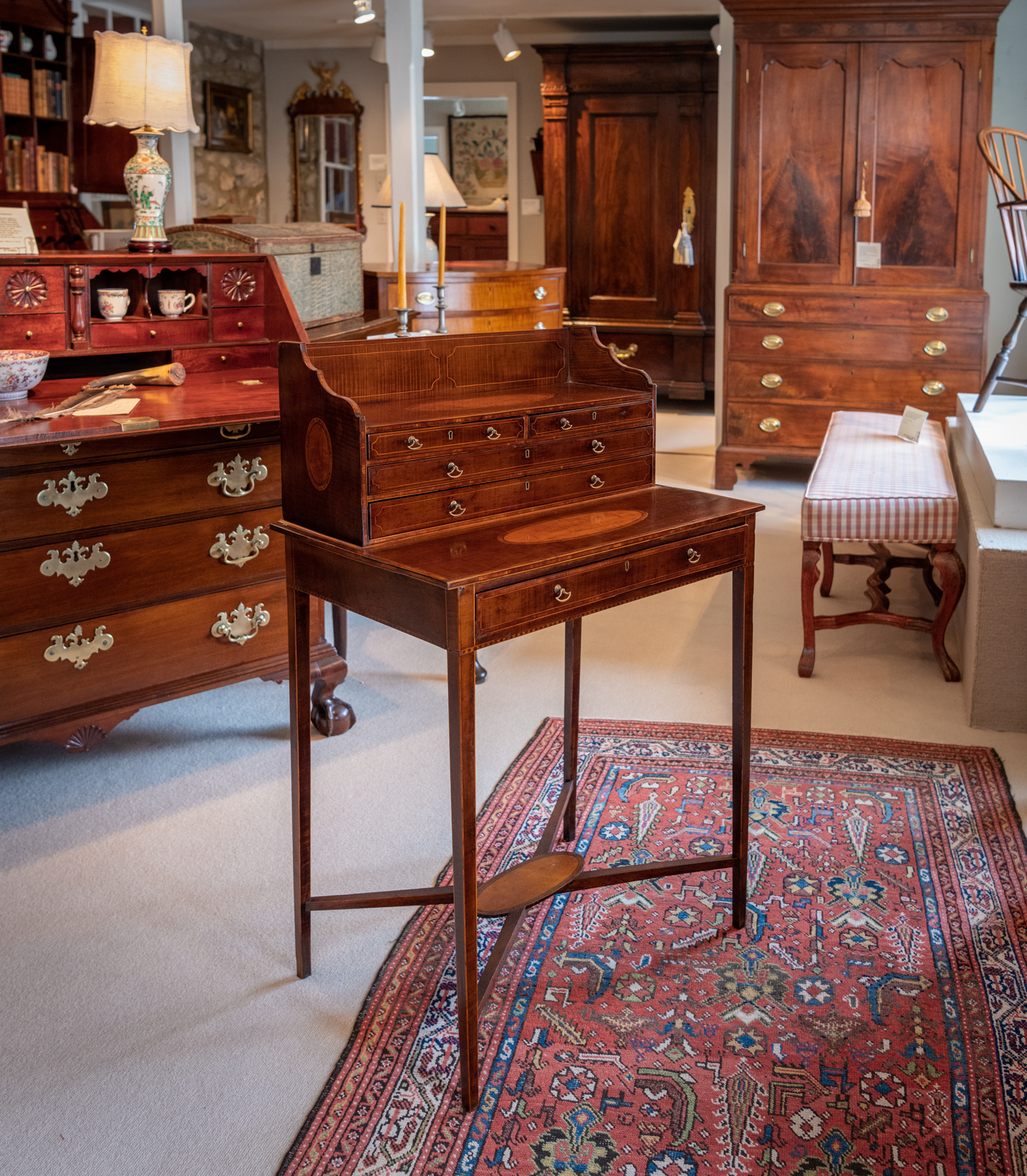 Regency Harewood Satinwood Work Table