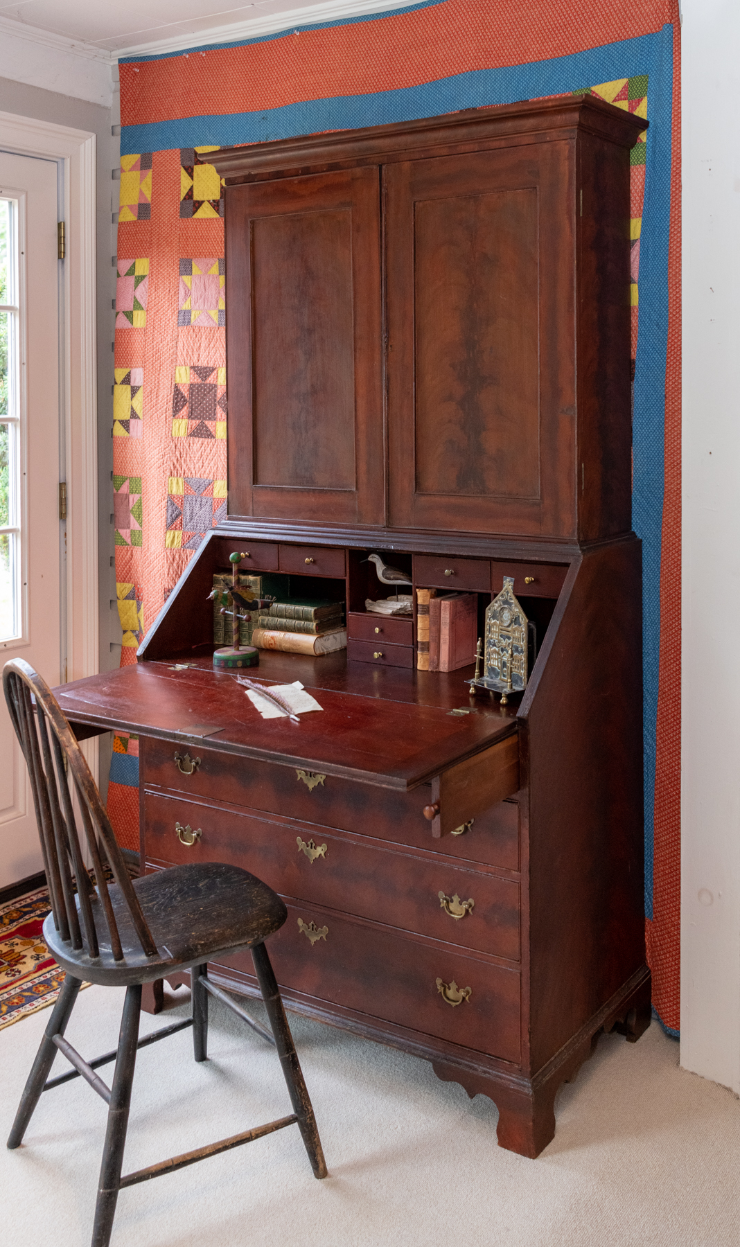 Chippendale Poplar Painted Secretary