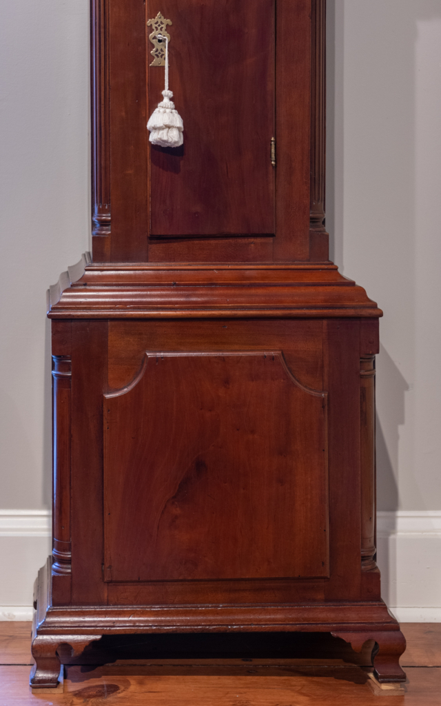 Chippendale Cherry Tall Case Clock base