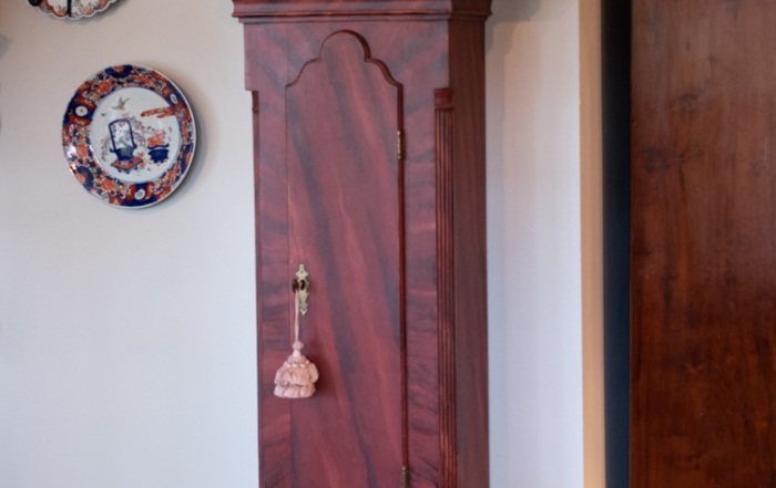 Grain Painted Chippendale Tall Case Clock