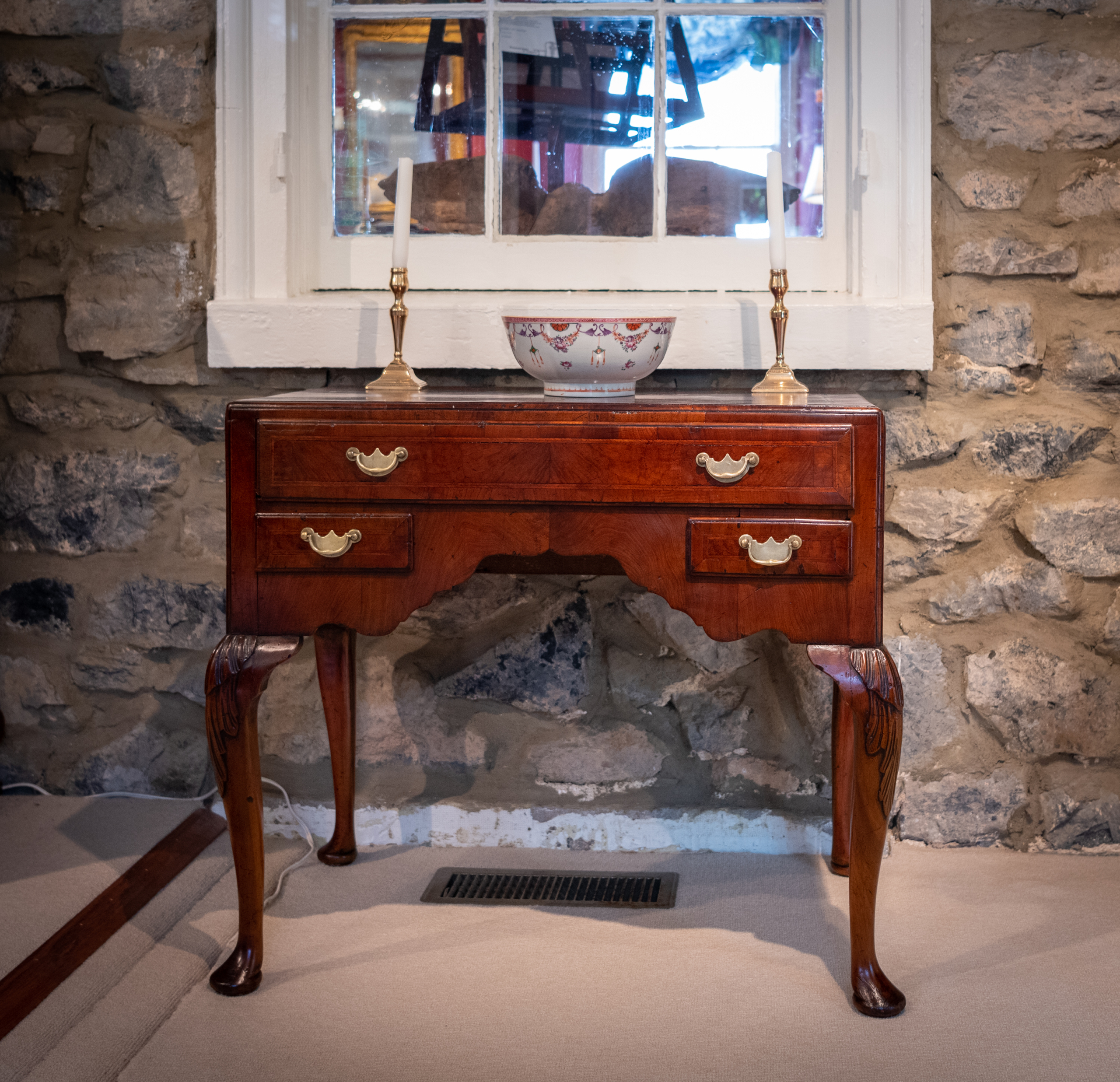 George II, Walnut Lowboy