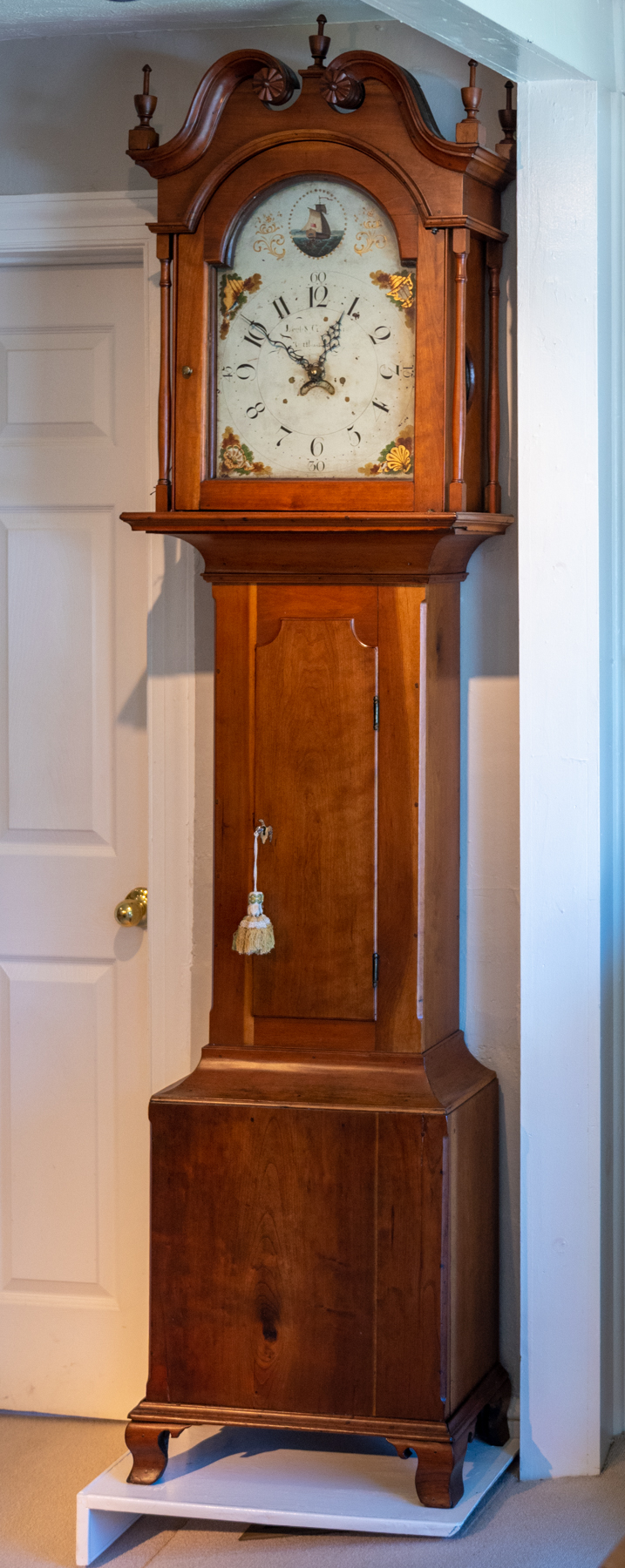Chippendale Cherry Tall Case Clock