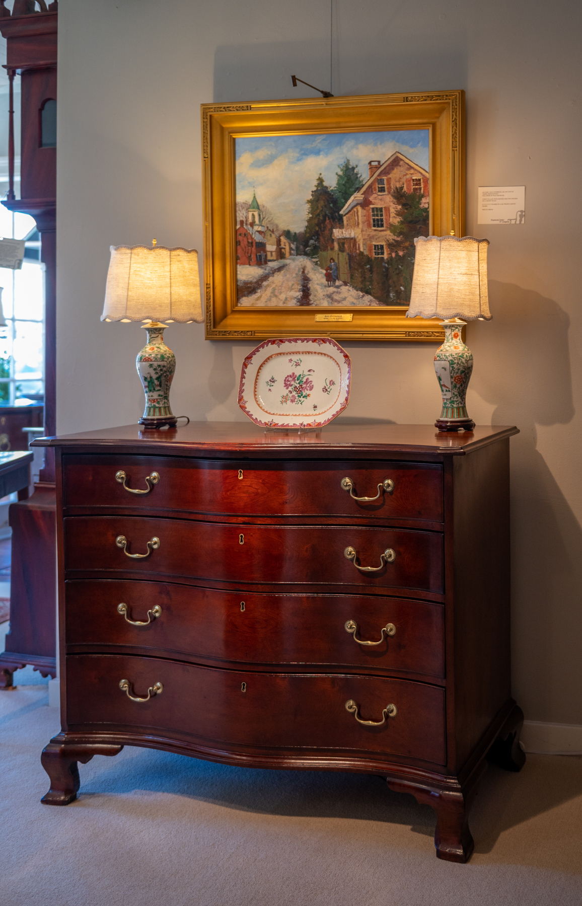 Chippendale Cherry Serpentine Front Chest