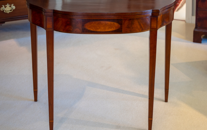 Federal Mahogany Inlaid Games Table