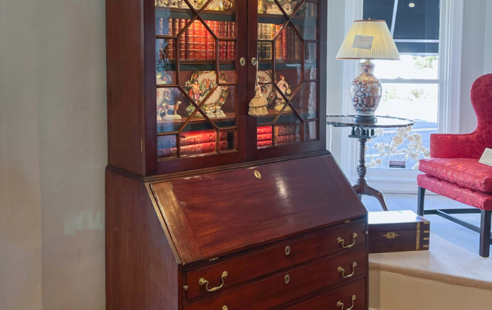 Chippendale Mahogany Secretary Bookcase