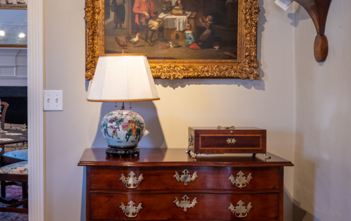 Federal Bow Front Chest Of Drawers