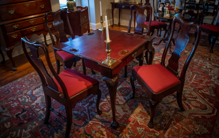 Chippendale Mahogany Games Table