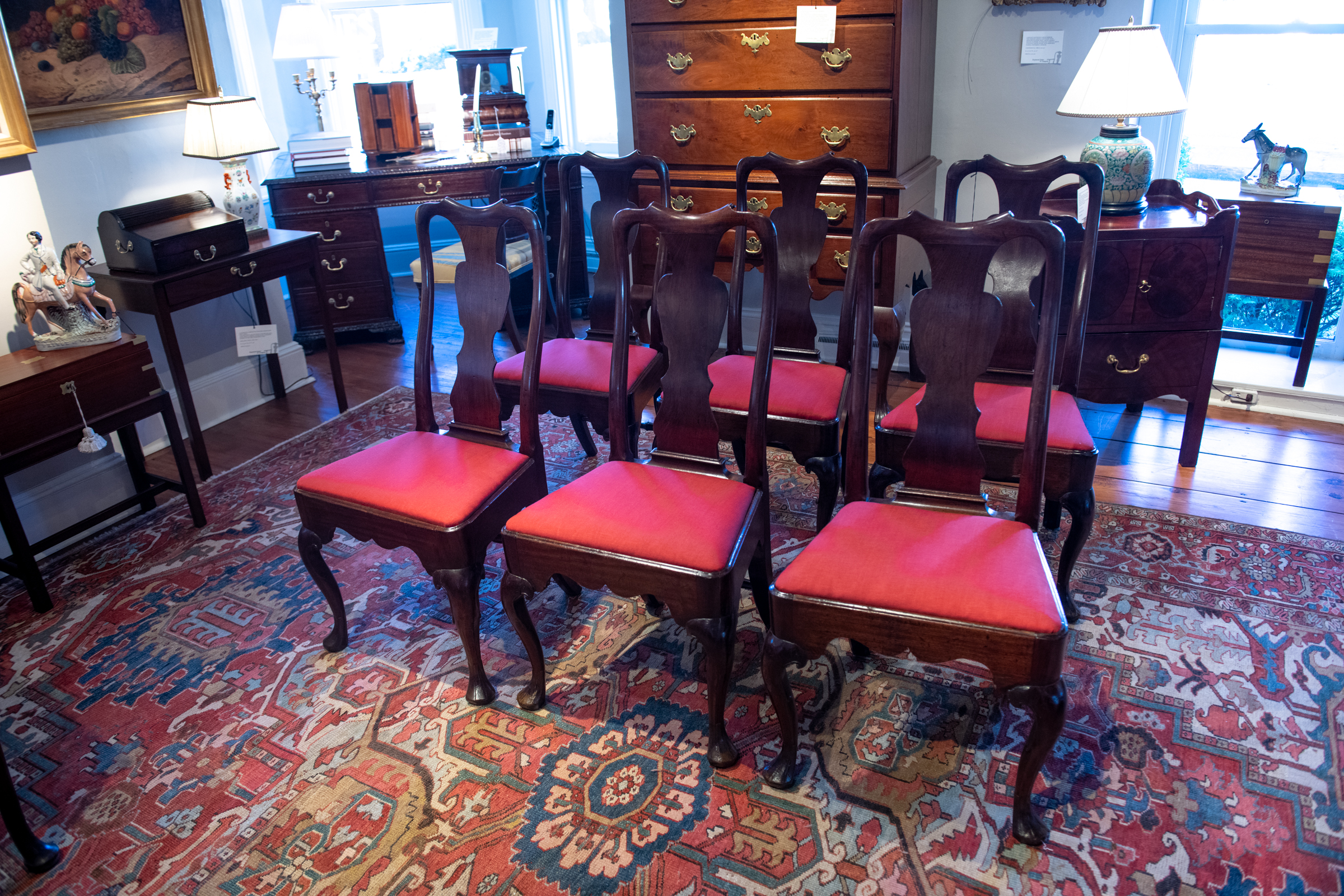 Queen Anne Mahogany Dining Chairs