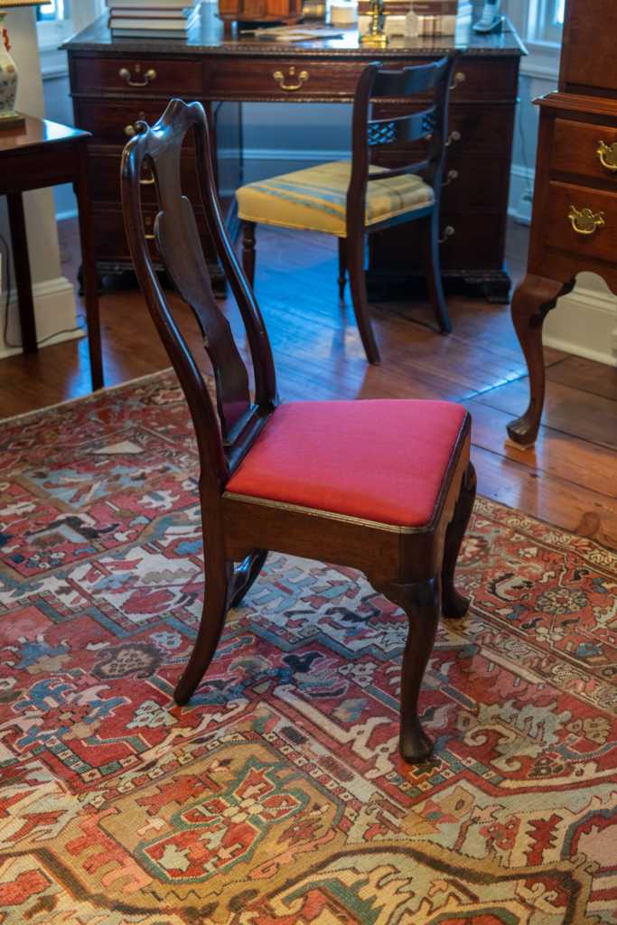 A Fine Set Of Six Queen Anne Mahogany Dining Chairs