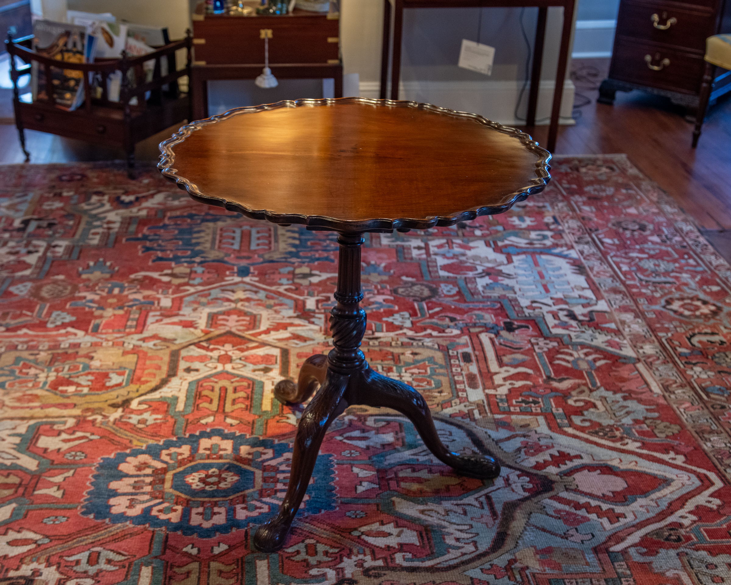 George III, Mahogany  Pie-Crust Tea Table