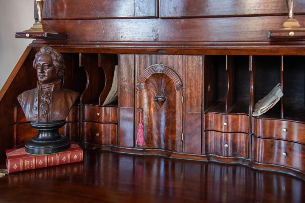 Queen Anne Walnut Secretary Bookcase - desk