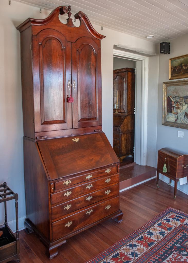 Queen Anne Walnut Secretary Bookcase - closed