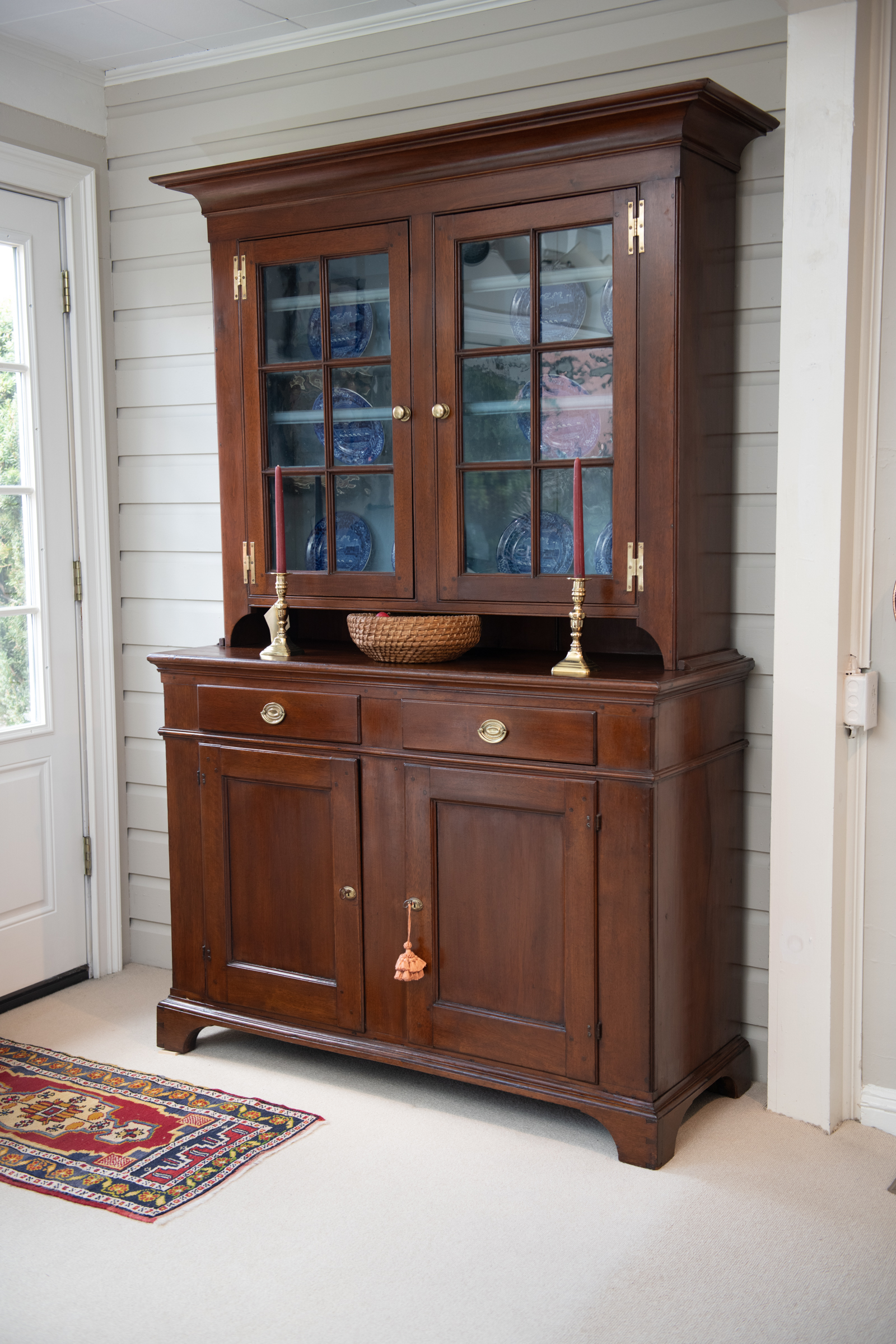 Chippendale Diminutive Walnut Step-Back Cupboard
