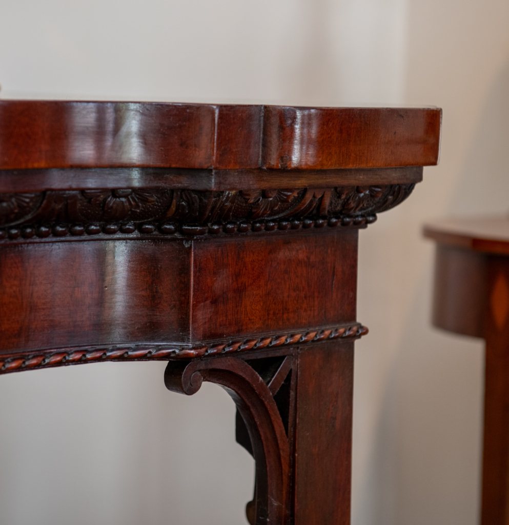 George III Mahogany Carved Serving Table - detail