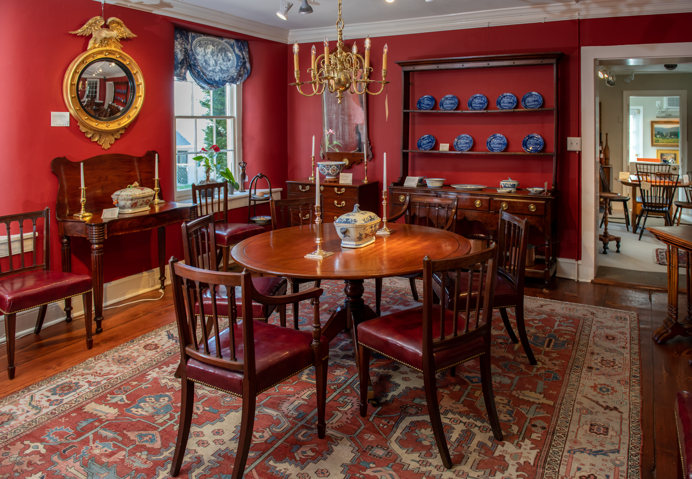 Regency Mahogany Inlaid Dining Table