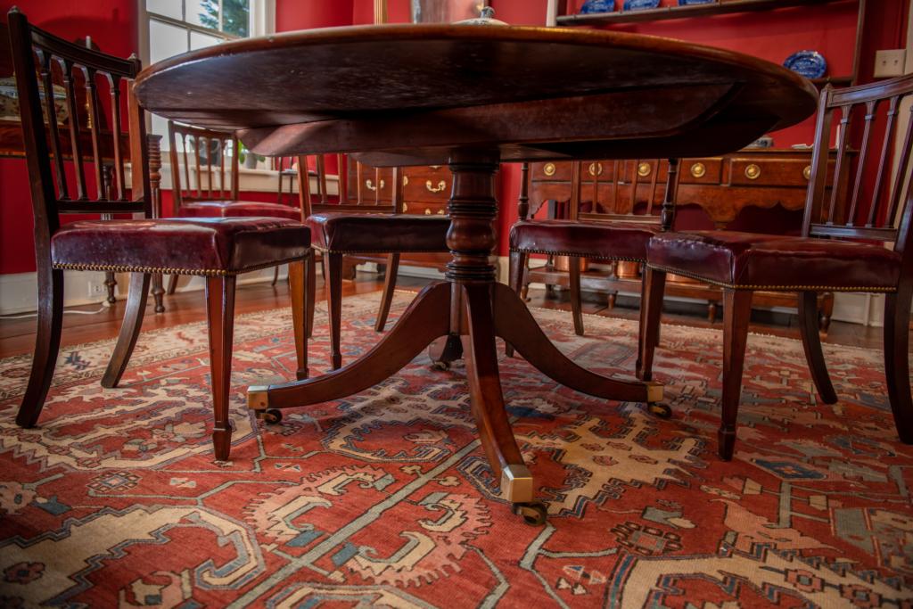 Regency Mahogany Inlaid Dining Table - base