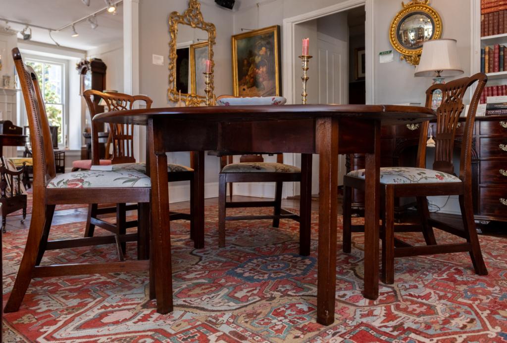 George III Mahogany Wake Table - Base