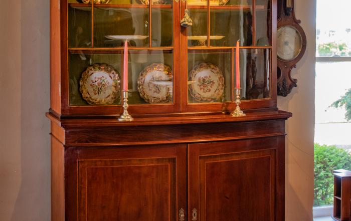 George III Mahogany Display Cabinet
