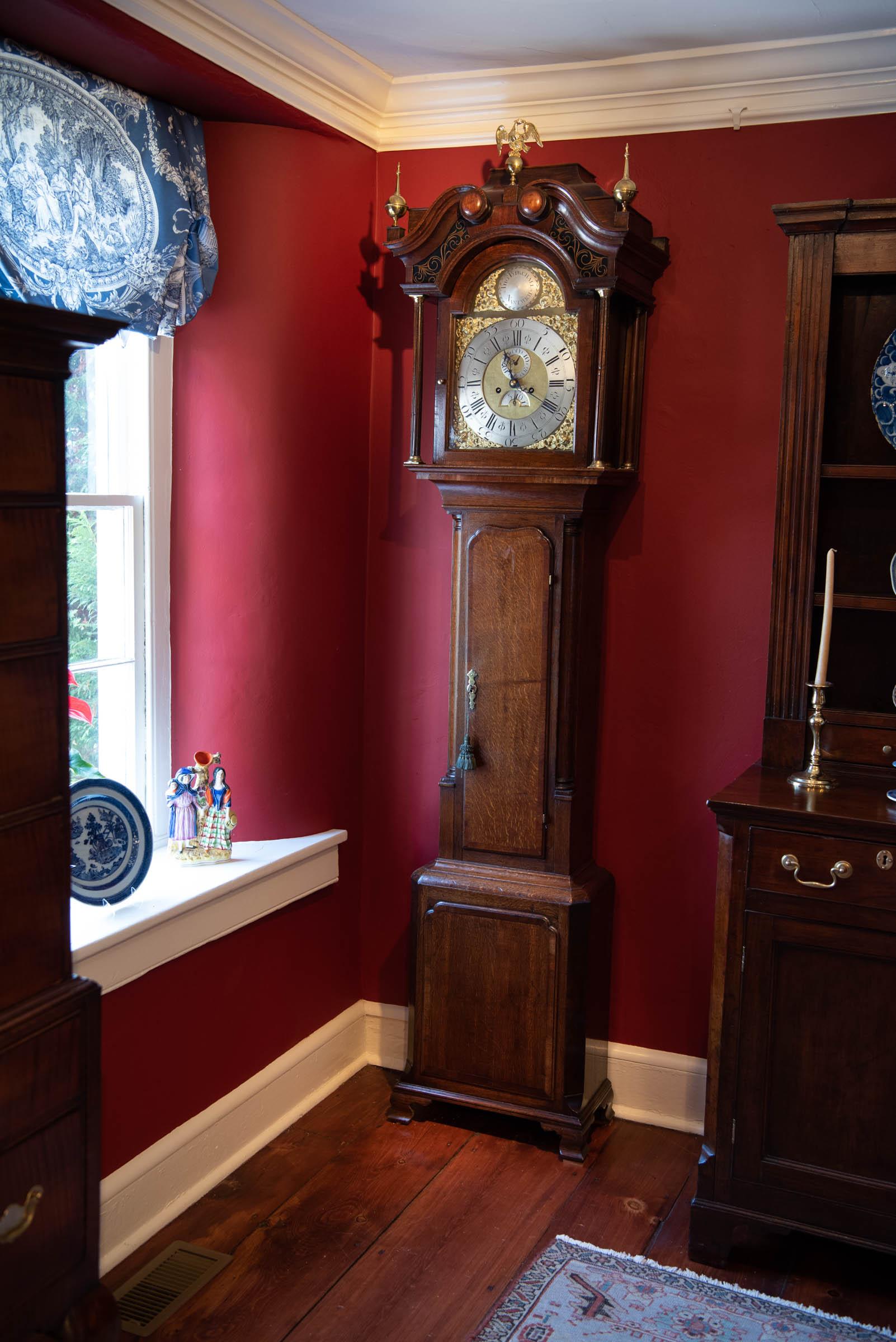 George III Oak & Mahogany Tall Case Clock
